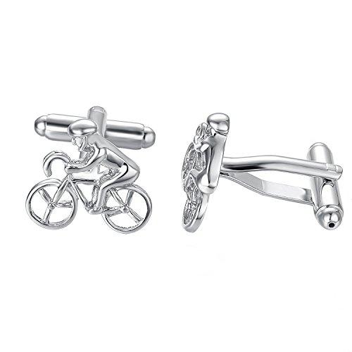 Yoursfs Herren Edelstahl Manschettenknöpfe Französische Fahrrad Form Als T-Shirts Accessoires Als Männer Geschenke (Französisch-stil-shirt-form)