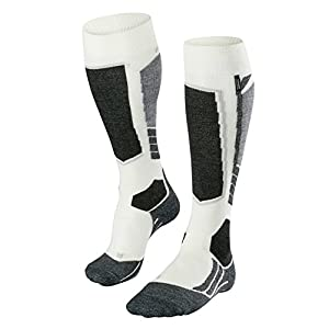 41um3ckavFL. SS300  - FALKE Women SK2 Cashmere Ski Socks - Cashmere/Merino Wool Blend, Available in White, UK sizes 2.5-8 (EU 35-42), 1 Pair…