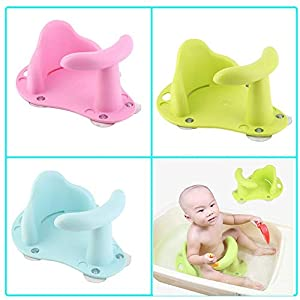 Hete-supply Baby Shower Seat Toddler Anti Slip Safety Chair Practical Baby Bath Seat Baby Bath Tub Ring Seat Infant Child Kids Soft, Non-Toxic For 1-3 Years Old Baby