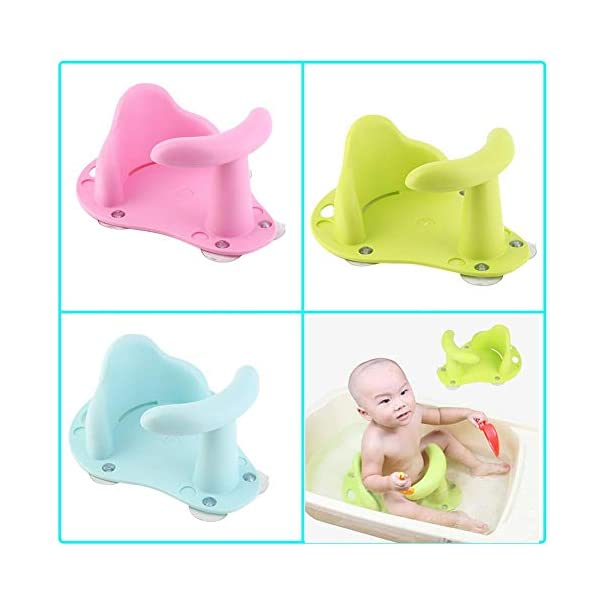 Hete-supply Baby Shower Seat Toddler Anti Slip Safety Chair Practical Baby Bath Seat Baby Bath Tub Ring Seat Infant Child Kids Soft,Non-ToxicFor 1-3YearsOldBaby 1
