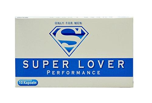 Männer Kapseln Super Lover Blue I 10 Männer-Pillen | Pflanzliches Mittel | Natürliches Mittel für Männer I Zur Leistungs-Steigerung | Rezeptfrei | 100% Pflanzlich | (Männer, Sexuelle Verbesserungs-pillen)