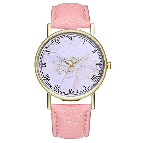 Peanutaod Moda para Hombre relojes de Mujer de Cuero de alta calidad de Acero inoxidable reloj de pulsera analógico de cuarzo Bonito Regalo