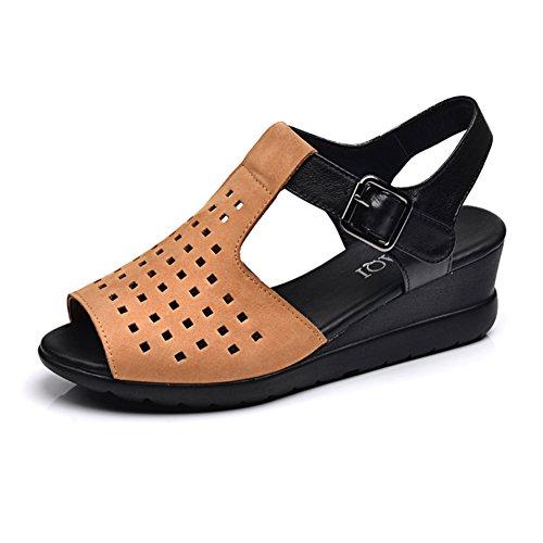 Sandales compensées/ creuse les souliers de plage C