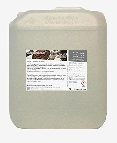 Entkalker Hochleistungs Konzentrat speziell für Kaffeevollautomaten, Siebträger, Kaffeeautomaten Kapsel und Pad Maschine geeignet für alle Marken
