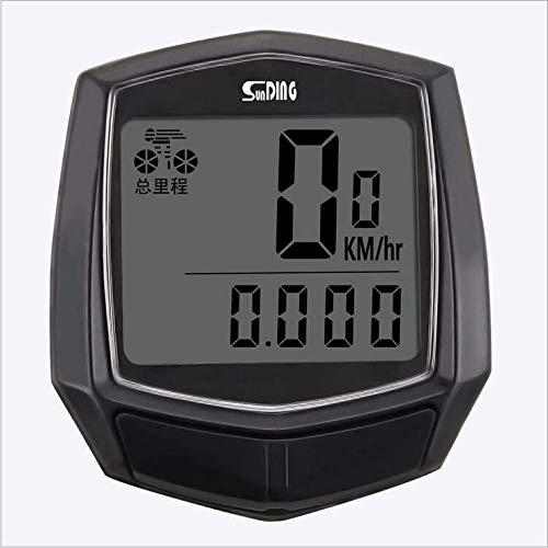 Betuy Fahrradcomputer verdrahtet 15 Funktionen wasserdichte LCD Geschwindigkeit Fahrradtacho Radcomputer Tacho für Radsport Realtime Speed Track -