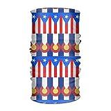 Bikofhd Unisex Flag of Puerto Rico Colorado Bandane multifunzionali Sweatband Elastico Turbante Copricapo Foulard Beanie Fazzoletto Outdoor16