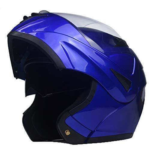 Flip up caschi da moto per adulti Dual visiera sistema anti nebbia vento sabbia pieno faccia moto casco Outdoor tappi di sicurezza cappello per Motocross Mountain Bike R