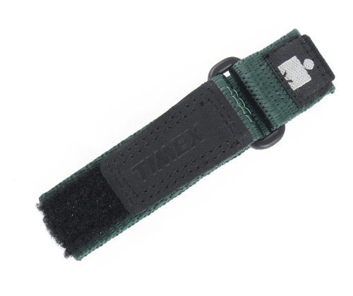 TIMEX WOMENS 12-16MM BLACK GREEN HOOK & LOOP NYLON IRONMAN EXPEDITION FAST WRAP SPORT WATCH BAND STRAP - Timex Band Watch 16mm