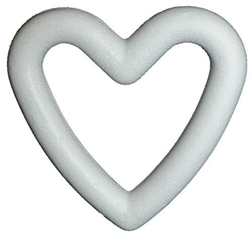 Unbekannt STYROPOR- Herz Rahmen 150 mm, 15 cm / 1 x Styroporherz- Kranz