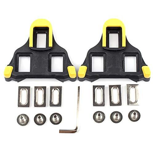 Float SPD-SL Rennrad Pedalplatten Rennrad Selbstsichernde Pedalausrüstung gelb -