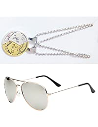 Sheomy Combo Of Friendship Coin Best Friends Pendant And Golden Silver Mercury Aviator Sunglasses Best Online...