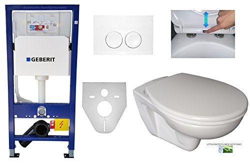 Preisvergleich Produktbild Geberit Duofix UP 100 Vorwandelement WC SET Pl. 21 weiß Schallschutz WC Lotus Absenkautomatik abnehmbar