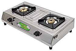Brightflame Stainless Steel 2 Burner Cook Top Gas Stove, Sliver, BF2BSSCN