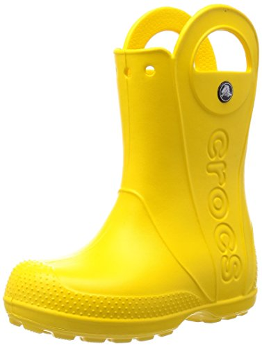 crocs Handle It Rain Boot, Unisex-Kinder Kurzschaft Gummistiefel, Gelb (Yellow 730), 34/35 EU (J3 Unisex-Kinder UK)
