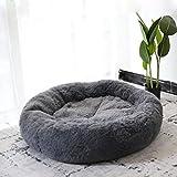 Lrhps Haustierbett für Katzen und Hunde, Super Soft Cushion Round oder Oval Donut Nesting Cave Bed Schlafbett für Katzen und Welp