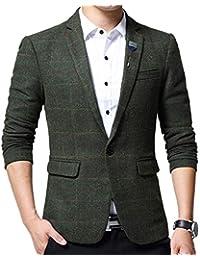 Chaqueta De Traje De Moda Slim Fit De Blazer Tweed Esencial Los Hombres 1 Botón Chaqueta De Diseño Elegante De La Fiesta De Boda Chaqueta Elegante Traje Casual con Un Solo Pecho