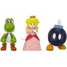 Mario Bros - World of Nintendo Micro Land 3 figura pack: Bob:Omb, Princess Peach & Yoshi (Jakks Pacific JAKKNIN016BPPY)