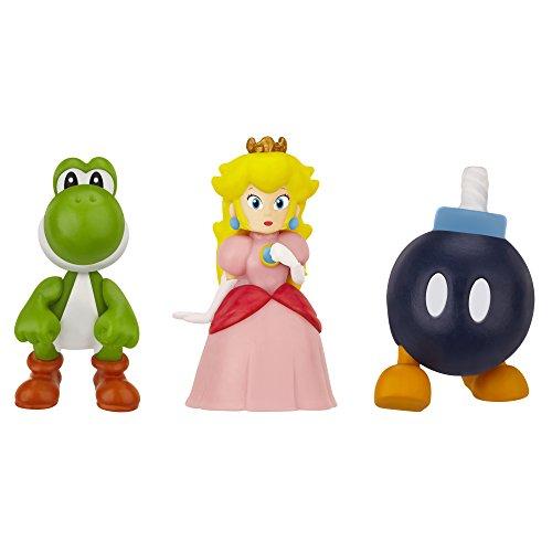 Nintendo JAKKNIN016BPPY - World of Micro Land 3 Figure Pack - Bob-Omb, Princess Peachund Yoshi