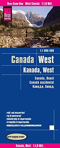 Reise Know-How Landkarte Kanada West (1:1.900.000): world mapping project (British Kanada Columbia,)