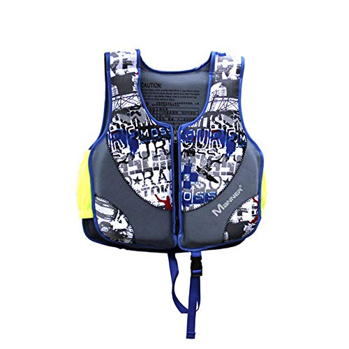 Volwco Chaleco de natación para niños, Flotador Ajustable, flotabilidad de Espuma, flotación portátil, Traje de baño para niños y niñas, natación, Kayak, canoas, Azul