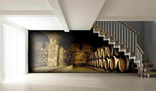 Traditionellen Stil Vinyl (Tapete Wandbild Weinkeller ! 8 Größe zu wählen - Selbstklebend - Top-Qualität - Wandfoto moderne Natur SW024 (300x210CM))