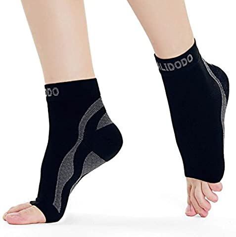 Plantar Fasciitis Compression Socks with Foot & Ankle Support for Men & Women Cradles Sore Ankles, Soothes Painful Heels & Improves Circulation for Better Foot Health (Black & Gray, 1 Pair) 