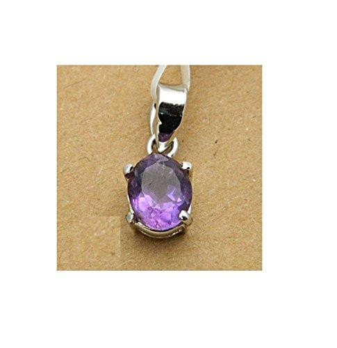 Malabar Gems 7.25 Ratti Amethyst Gemstone Pendant in 925 Silver Lab Certified