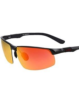 Kennifer Gafas de sol Polarizadas para Hombres Rectangular Conducción de Pesca Senderismo Ciclismo Hombres Gafas...