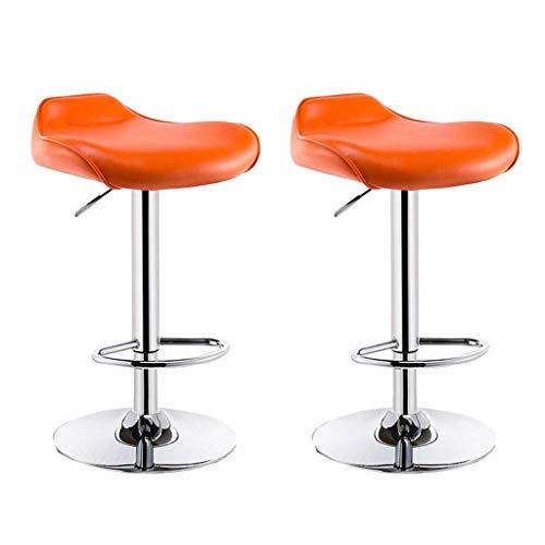 Zähler Höhe Tisch Hocker (Barstuhl Home High Hocker Aufzug Stuhl Bar Tisch und Stuhl Vorder Barhocker für 90~120 cm Höhe Zähler,Orange)