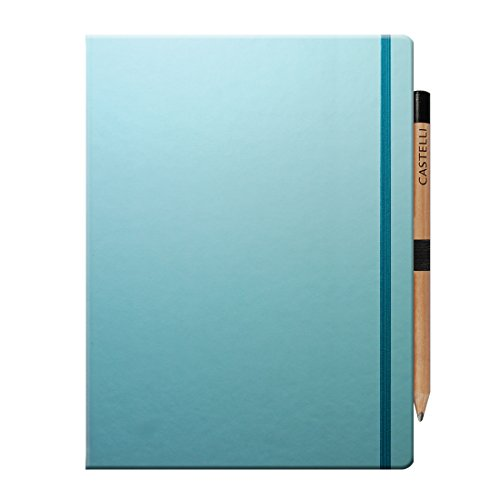 castelli-tucson-ruled-paper-large-notebook-with-pencil-clue-curacao-190-x-250mm