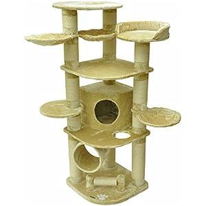 [Gesponsert]nanook Gigant - Kratzbaum XXL, Premium Qualität, große und schwere Katzen (Maine Coon, Ragdoll), standfest - Farbe: beige