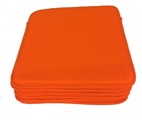 Alpes Blanc Lot de 6 Dessus de Chaise - Carré de Mousse - Victoria Orange
