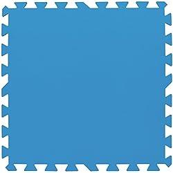Bestway Flowclear Pool-Bodenschutzfliesen-Set, 8 Stück á 50 x 50 cm, blau