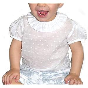 Camisas de Bebé Plumeti de Manga Corta | Camisa para Niño Entre 3 Meses y 3 Años| 100% Algodón y Cuello con Volante… 3