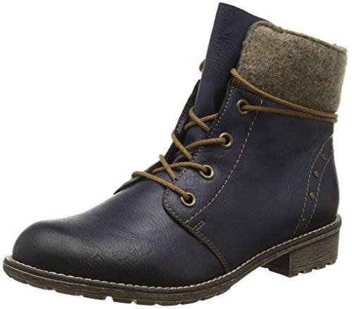 Rieker Mädchen K3467 Combat Boots Blau (ozean/wood / 14)