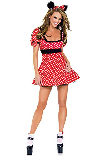 Glamour Damen-Tupfen Disney Minnie Mouse Kostüm Fun World (Small)
