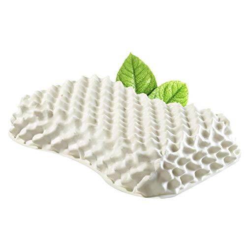 Latex Natürliches Bett (Qazwsx Natürliches Weiches Latex-Kissen, Nackenstützkissen Ergonomisches Wolfszahnkissen Latex-Massagekissen)