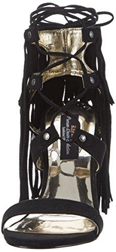 REPLAY Viogner, Scarpe Col Tacco con Cinturino a T Donna nero (nero)