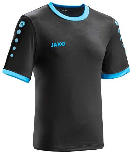 JAKO leichtes Team-Trikot schwarz-blau Unisex für Kinder Größe 128 Casual oder Sport Shirt super Mädchen und Jungen