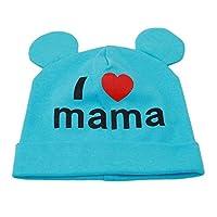BIGBIGWORLD Baby Toddler Soft Hat Cute I Love Mama Beanies Cap Hats Caps