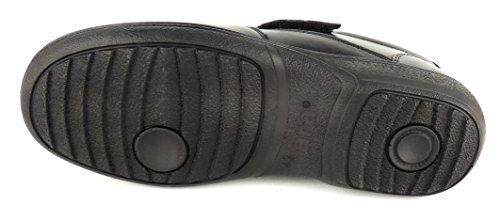 01 Noir Velcro Extraweit Uomini Depositi Sciroppo Convient En Ara 20 614 Cuir Souple Y7q55