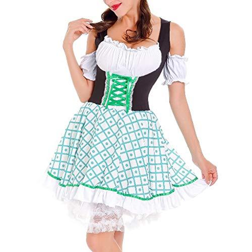 Länge Trägerlosen Ballkleid (Bier MäDchen Restaurant Kellnerin Kleid Ladies Beer Festival Cosplay Vintage Trägerlosen Komfort-Minirock Bezaubernd Yebutt)