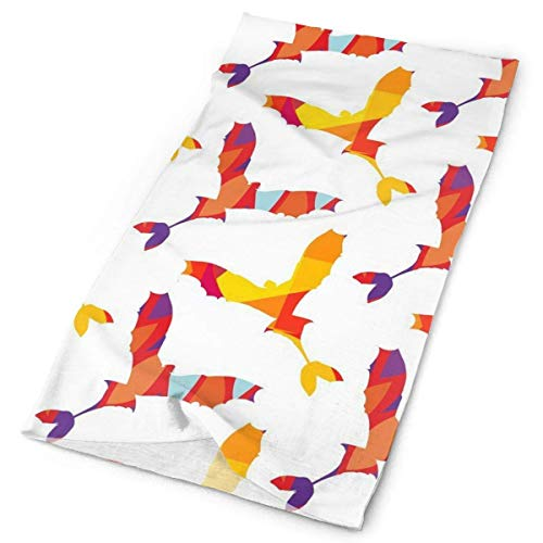 SJuczi Unisex Flying Birds Double Sided Print Variety Scarf Headbands Bandana Magic Headband Elastic Seamless Bandana Headwear Head Scarf 9.8W x19.7L in -