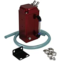 primecooling quadrato in alluminio motore Olio cattura serbatoio sfiato può + tubo rosso universale