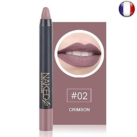 O.two.O Rouge à lèvres mat naturel rosé waterproof longue durée effet velour