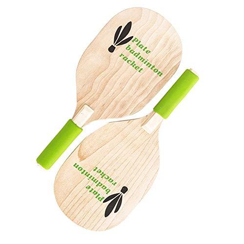 Schläger Strand Paddel Tennisschläger Ballspiel Strand Paddel Badminton Schläger Holz Indoor und Outdoor Badminton Spiel für Kinder Jugendliche Erwachsene