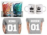 Best Man Shot Glass - Silver Ink - King and Queen Round Neck Review