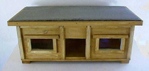 TTF Katzenhaus outdoor mit 2 Fenster Boden isoliert