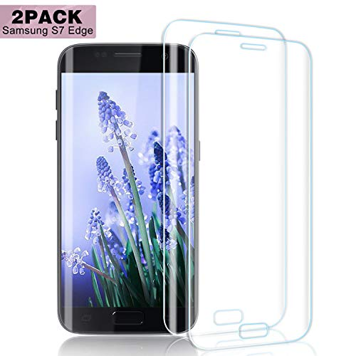 Nutmix Galaxy S7 Edge Panzerglas Schutzfolie, [2 stück] HD Ultra Klar Abdeckung Gehärtetem Glas Displayschutzfolie für Samsung Galaxy S7 Edge, 9H Härte, Anti-Fingerabdruck, Blasenfreie -