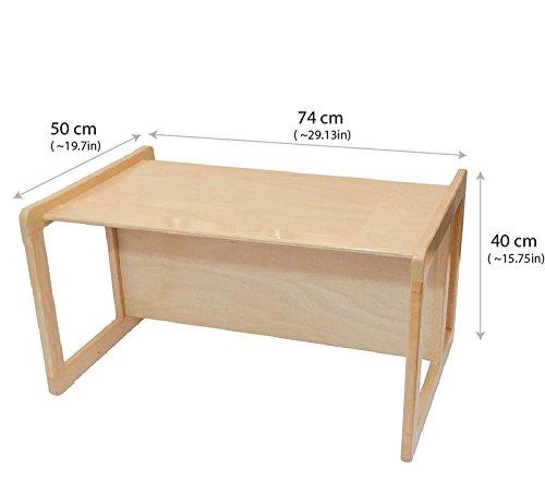 3 en 1 muebles para ni os de madera de la haya ligera for Silla que se convierte en mesa